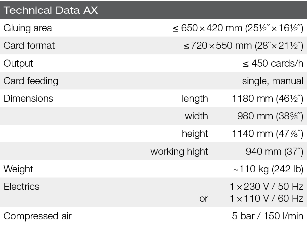 polytex-AX-Technical data